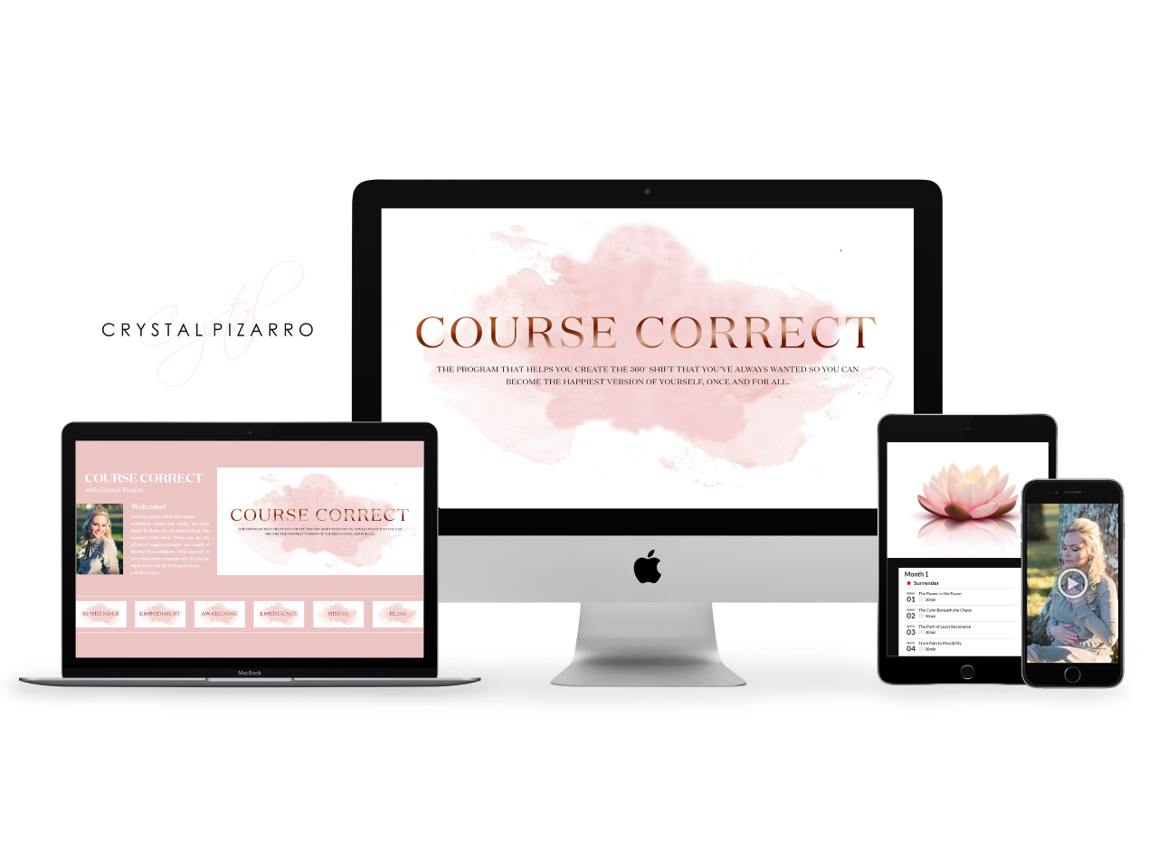 The Course Correct Program allows you to press pause button on that inner movie projector that plays old conflicts to make room for something new and more authentic to emerge.
